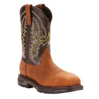 Ariat Tumbled Bark WorkHog XT Waterproof Carbon Toe Mens Pull On Work Boots 10024966