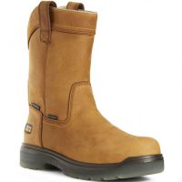 Ariat Tan Aged Bark Turbo Pullon H20 Mens Safety Toe Work Boots 10027328