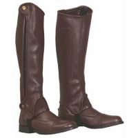 100581-647 Brown TuffRider Gripper Grain Half Chaps