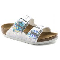 Birkenstock Hologram Silver Arizona Kids Sandals 1008097
