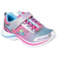Skechers Swift Kicks Velcro Pink Multi Fabric Kids Athletic 10902-SMLT