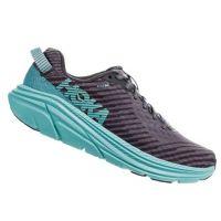 Hoka Charcoal Gray/Aqua Sky Womens Rincon Comfort Shoe 1102875