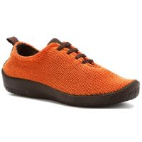 1151-LS-15 Orange Stretch Knit Lace-Up Comfort Arcopedico Womens Shoes