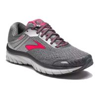 Brooks Grey/Pink Adrenaline GTS 18 Womens Road Running Shoes 120268-079