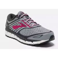 Brooks Ariel 18 Grey Pink Support and Cushion Womens Running Shoes 120271091