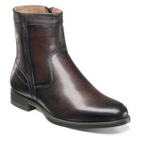 Florsheim Midtown Plain Toe Boot Brown Leather Mens Dress 12140-200