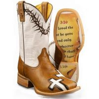 BETWEEN 2 THIEVES Square Toe Tin Haul Womens Western Cowboy Boots