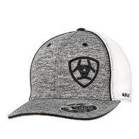Ariat Grey and White Mens Logo Cap 1504901