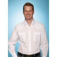 Solid Long Sleeve Traditional Western Mens Shirts 15201905