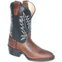 Pocono Black/Brown Leather Kids Western 1550