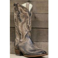 RockinLeather Mens Brown Distressed Western Boot With Square Toe 1576-RL