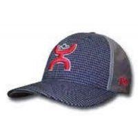 1645 Navy/Grey WEB HOOEY Flexfit Ball Cap