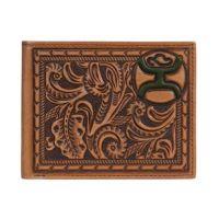Hooey Signature Mens Brown Bi-Fold Wallet 1824138W3