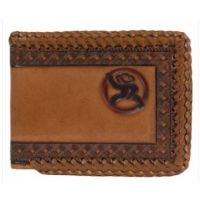 Hooey Mens Roughy Brown Whipstitch Bifold Wallet 1912161W3