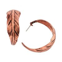 29010 Copper Feather Blazin Roxx Women's Earrings