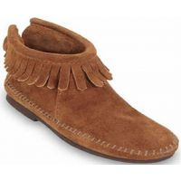 Minnetonka  Zip Ankle Brown Suede Kids Boot 2282