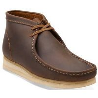 Clarks Wallabee Beeswax Leather Brown Mens Casual Chukka Boot 26103604