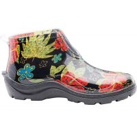 2841BK Slogger Ladies Ankle Rain Boots in MidSummer Black