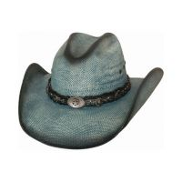 Bullhide Into You Blue Womens Straw Hat 2920