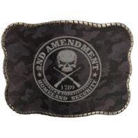 Wallet Buckle 2nd Amendment Camo Belt Buckle