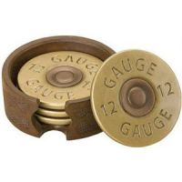 30170515 Shotgun Shell Coaster Set of 4 Western Home Accents