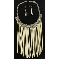 30840 Ivory Fringe Blazin Roxx Women's Jewelry Set