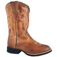 3134C Showdown Bomber Tan Leather Kids Western Cowboy Boots