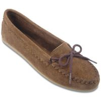 343 Suede Slip-On Skimmer Moc Casual Minnetonka Moccasin Womens Shoes