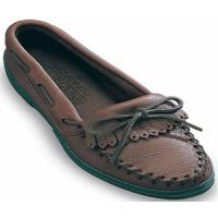 392 Chocolate Moose Fringed Kilty Minnetonka Moccasin Womens Shoes