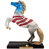 4040981 YANKEE DOODLE 8.5-in Tall Resin Collectible Painted Ponies Figurines