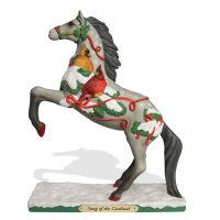 4053771 Song Of The Cardinal Painted Pony Figurine