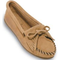 Kilty Suede Moc Slip-On Casual Minnetonka Moccasin Womens Shoes