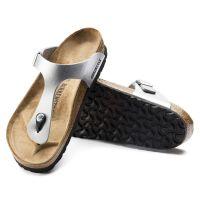 Birkenstock Silver Gizeh Birko-Flor Womens Sandals R43851