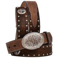 3D Belt 1 1/4 inch Brown Boys' Western Fashion Belt 4524