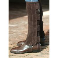 Ovation Brown Suede Adult Half Chaps with Hook & Loop Closures 459397
