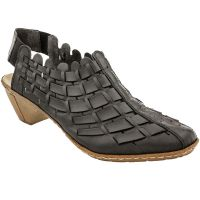 46778-01 Black Sina 78 Womens Rieker Sandals