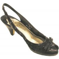 Lola Black 50-2921 Slingback 21/4inch Heel Womens Dress Shoes