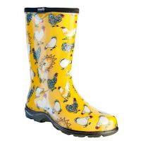 5016CDY Yellow Chicken Collection Ladies Rain Boots
