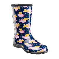 Sloggers When Pigs Fly Midnight Blue Womens Rain and Garden Boots 5019PFBL