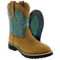 C O Lynch Itasca Teal Buckaroo Kids Western Boots 5027020