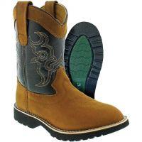 C O Lynch Itasca Brown/Black Buckaroo Kids Boots 5027035