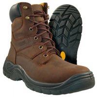 5040010/5040015 Brown Authority Steel Toe Waterproof Mens Work Boots