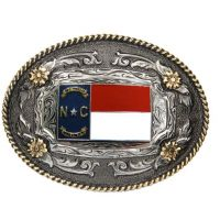 AndWest Two Tone Antique Oval North Carolina Regional Buckle 530-829