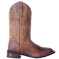 Dan Post Laredo Tan Anita Womens Broad Square Toe Western Boots 5602