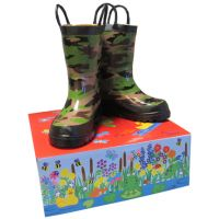 Smoky Mountain Camo Kids Waterproof Rain Boot 585-CAMO