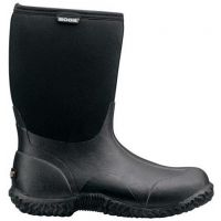 61152 Classic Mid Black Waterproof/Warm Bogs Womens Boots