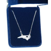 Montana Silversmith North Carolina Is Where My Heart Is State Necklace 61199C-NC