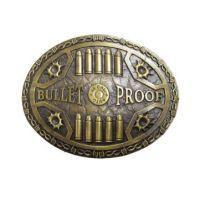 622-06 Antique Brass Bullet Proof Andwest Belt Buckle