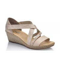 Rieker Light Rose Criss Cross Womens Wedge Sandals 62405-31