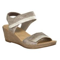 Reiker Silver/Ice Adjustable Strap Sling Back Wedge Womens Sandals 62470-64